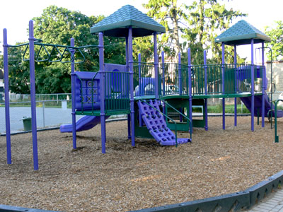 The senior playground at Cook's School Day Care, child care in Cobourg, ON